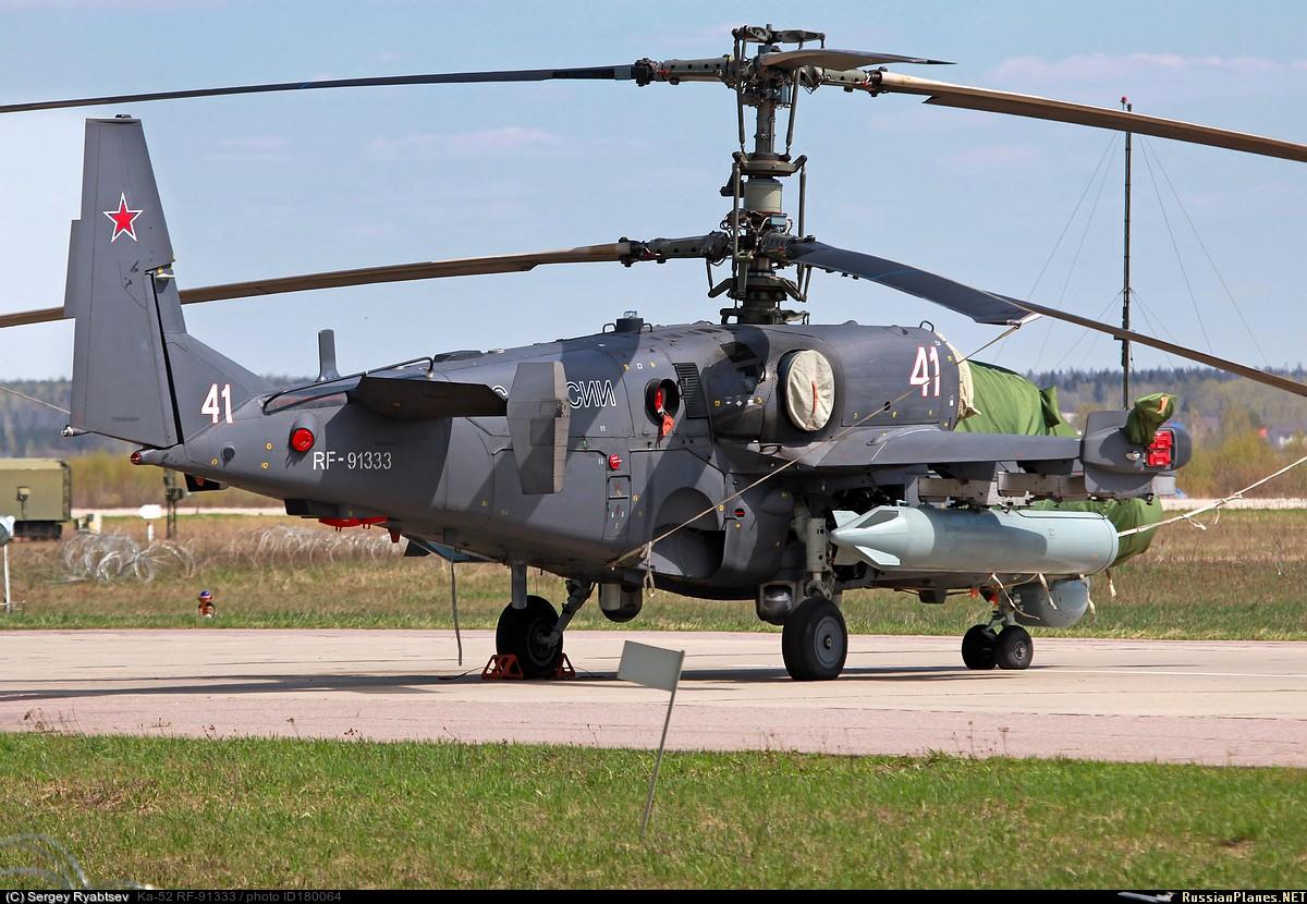 Как сообщается, боевые вертолеты Ка-52 будут переброшены в Сирию