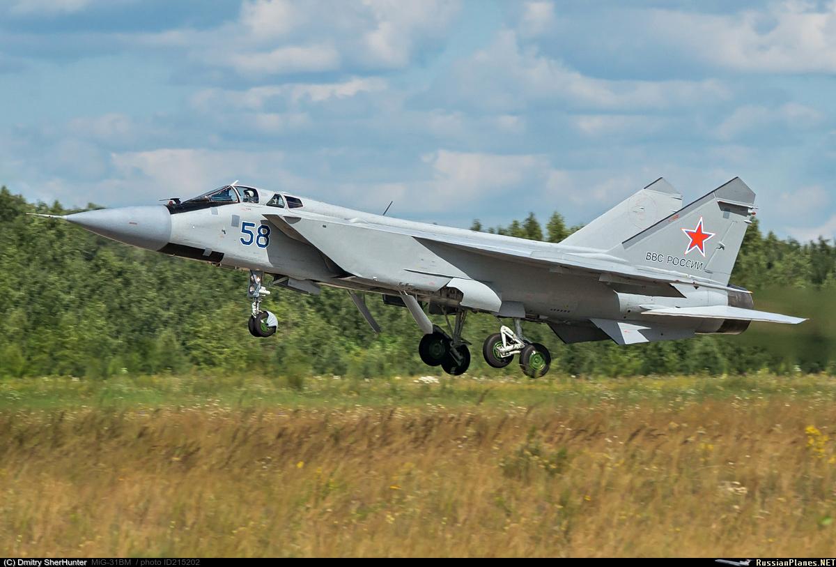 Очередные три модернизированных МиГ-31БМ поступили в Центральную Угловую