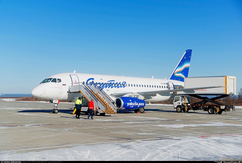 """Проблемы с эксплуатацией самолетов SSJ100 в авиакомпании """"Якутия""""."""