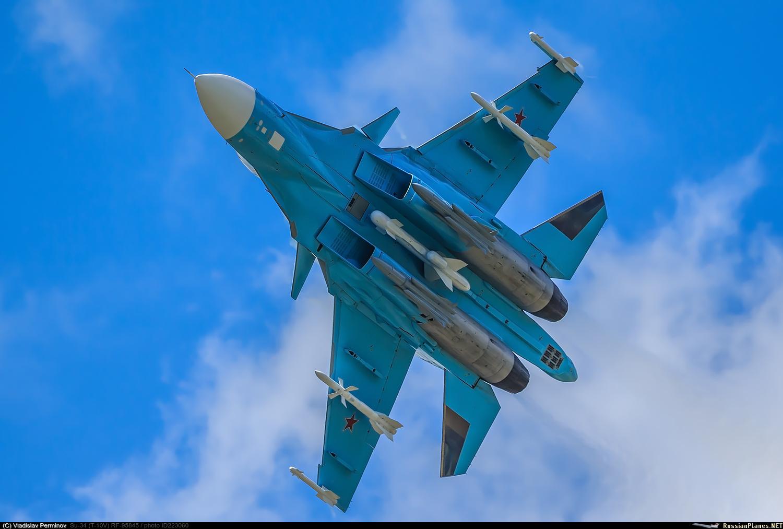 Embora não tenha características furtivas, o Su-34 é, no entanto, competente, especialmente contra outros aviões de geração 4 ++.