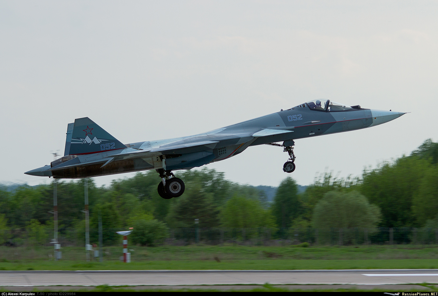 Продолжение испытаний летающей лаборатории Т-50-2 с двигателем