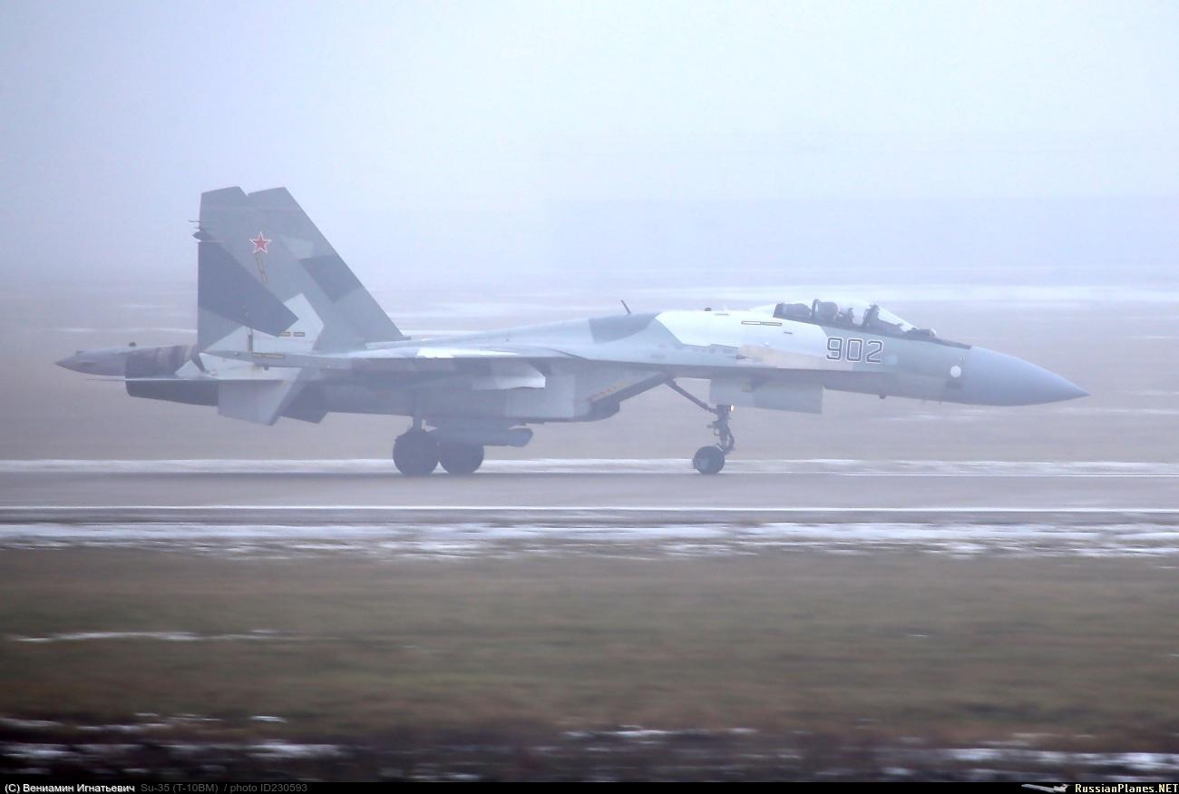 Испытания подвесного контейнера целеуказания Т220 на истребителе Су-35