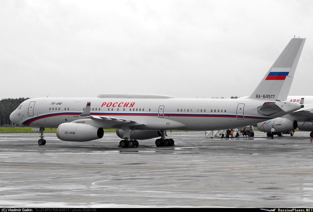 Самолет Ту-214ПУ, который официально закреплен за президентом РФ Дмитрием Медведевым, в настоящее время является не...