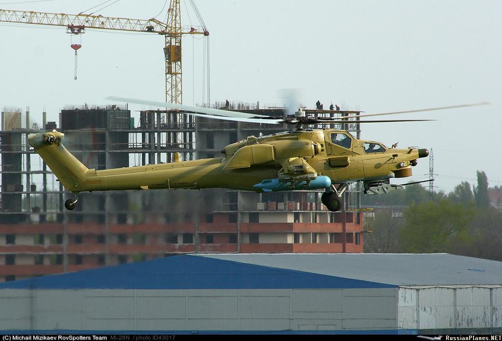 """Многоцелевой ударный вертолет круглосуточного действия Ми-28Н ( """"Ночной охотник """") представляет собой двухместный..."""