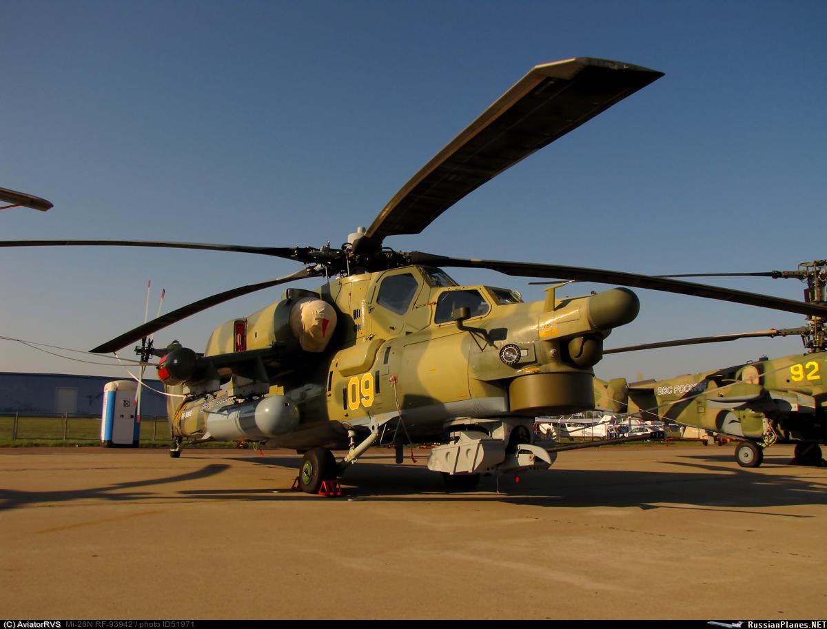 Ударный боевой вертолёт МИ-28Н.